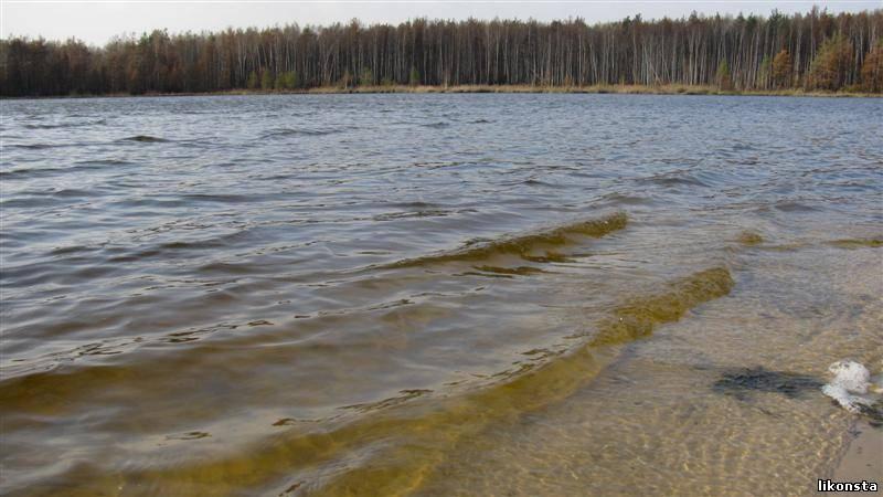 Волны на озере. Осень<alt>